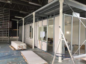 cleanroom metalen wanden schematische opbouw