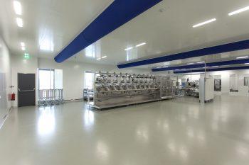 cleanroom plafond metaal met watermist sprinkler klasse ISO7