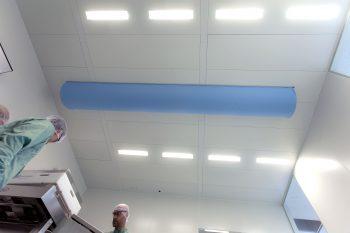 cleanroom plafond metaal met led verlichting klasse GMP B