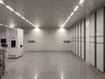 cleanroom een ISO5 werkruimte met een horizontale luchtstroom