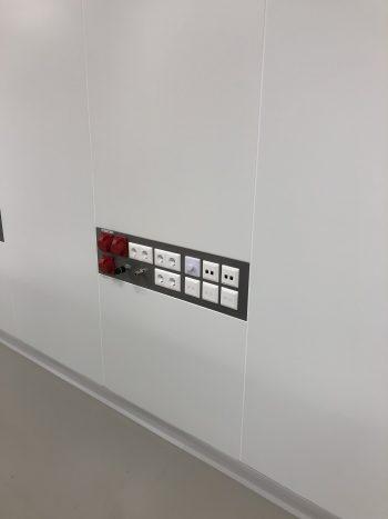 cleanroom wand aansluitpanelen ISO7